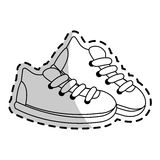 Sneaker shoes icon image Royalty Free Stock Images