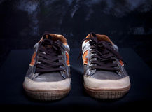 Sneaker shoes by studio light Royalty Free Stock Image