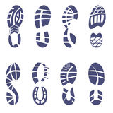 Sneaker tread set Royalty Free Stock Images