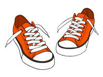 Free Sneakers Royalty Free Stock Images - 18780339