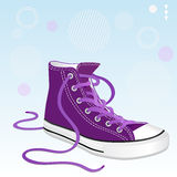 Sneakers. Vector illustration of a stylish shoe lilac color for design Stock Photo