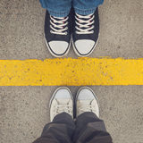 Sneakers from above. Royalty Free Stock Photography