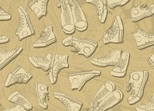 Sneakers Background Stock Image