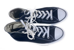 Sneakers black shoes Royalty Free Stock Photo