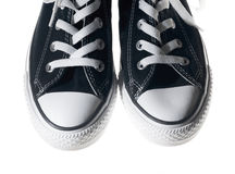 Sneakers black shoes Royalty Free Stock Photos