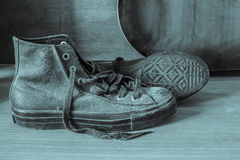 Sneakers with black and white Stock Photography