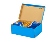Sneakers in box Stock Image