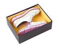 Sneakers in box Royalty Free Stock Images