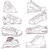 Sneakers collection Stock Images