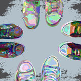 Sneakers color Stock Photos