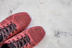 Sneakers for fitness on a light background.  Royalty Free Stock Images