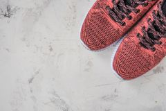 Sneakers for fitness on a light background Royalty Free Stock Images
