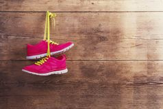 Sneakers on the floor Royalty Free Stock Images