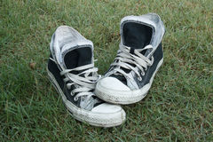 Sneakers on the grass Royalty Free Stock Photography