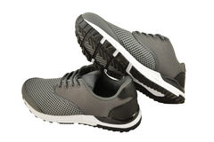 Sneakers in gray Royalty Free Stock Images