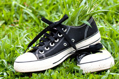 Sneakers in green Stock Photos
