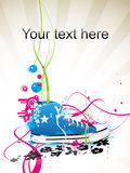 Sneakers, gym-shoes. Varicoloured vector background with sneakers, gym-shoes Stock Photo