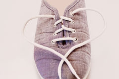 Sneakers with a heart Stock Images