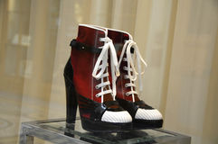 Sneakers with high heels Royalty Free Stock Photography