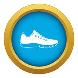 Sneakers icon blue vector isolated. On white background for any design stock illustration