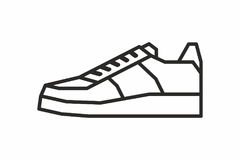 Sneakers icon Royalty Free Stock Photos