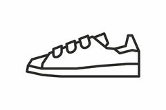 Sneakers icon Royalty Free Stock Image