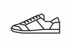 Sneakers icon Stock Image