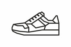Sneakers icon Royalty Free Stock Images