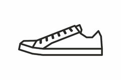 Sneakers icon Royalty Free Stock Photo
