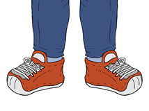 Sneakers illustration Royalty Free Stock Image