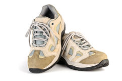 Sneakers with laces Royalty Free Stock Photo