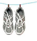 Sneakers on line Royalty Free Stock Photo