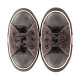 Sneakers mutants. Isolated. Old sneakers mutants on a white background. It is isolated, the worker of paths is present Royalty Free Stock Photos