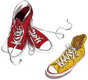 Sneakers with Pattern Royalty Free Stock Image