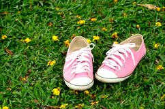 Sneakers pink Royalty Free Stock Images