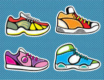 Sneakers pop art vector Stock Photo