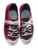 Sneakers red shoes Stock Image