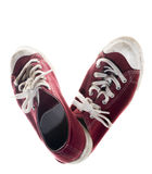 Sneakers red shoes Royalty Free Stock Image
