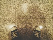 Sneakers rocznika brzmienie Fotografia Stock