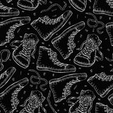 Sneakers. Seamless background. Royalty Free Stock Photography