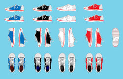 Sneakers. Set of color sneakers. This is file of EPS10 format Royalty Free Stock Photo