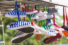 Sneakers   shoes multicolored Stock Photography