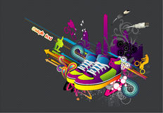 Sneakers shoes urban vector Royalty Free Stock Image