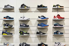 Sneakers in the shop Stock Photography