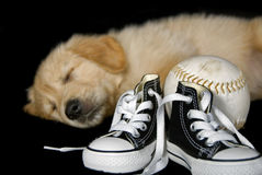 Sneakers and Softball Royalty Free Stock Photo