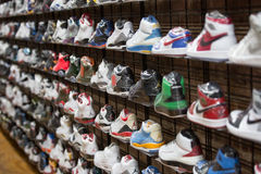 Sneakers and sport shoes. Royalty Free Stock Photos