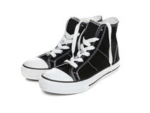 Sneakers (Tennis Shoes) over white Royalty Free Stock Photos