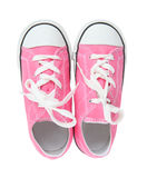 Sneakers (Tennis Shoes) over white Royalty Free Stock Image
