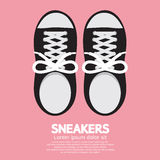 Sneakers. Top View Sneakers Vector Illustration stock illustration