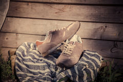 Sneakers for training, sports shoes Royalty Free Stock Photo